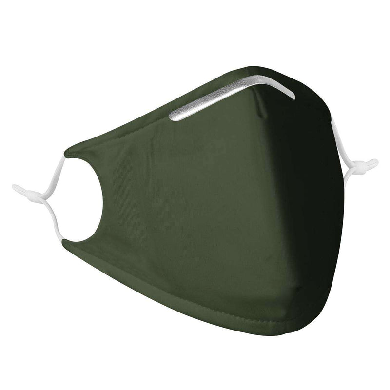 DARK GREEN -  MASK WITH (4) PM 2.5 CARBON FILTERS, Electric Styles, Accessories, dark-green-mask-with-4-pm-2-5-carbon-filters, 'EcFreeDesign', Facemask, Mask, spo-default, spo-disabled
