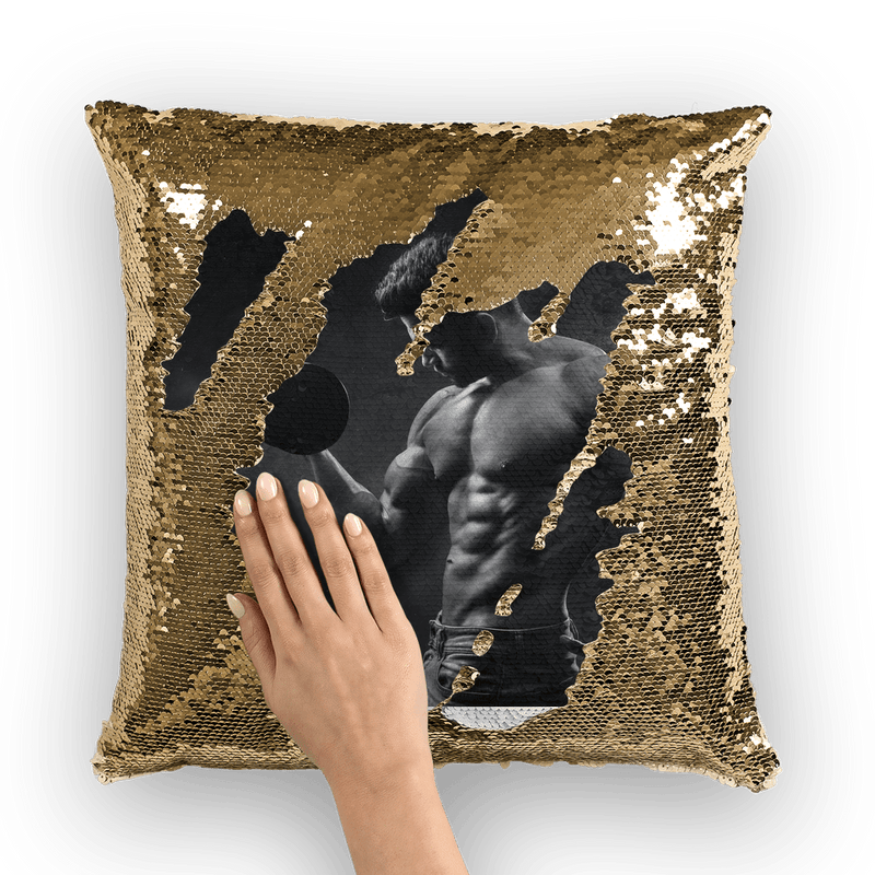 Fitness Sequin Cushion Cover, alloverprint.it, Homeware, fitness-sequin-cushion-cover, Homeware, spo-default, spo-disabled