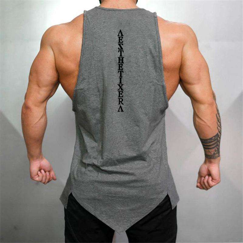 Foreign trade hot sale outdoor sports long hip-hop casual vest men's cotton fitness training breathable sleeveless T-shirt, Snapfitnessdeals, , foreign-trade-hot-sale-outdoor-sports-long-hip-