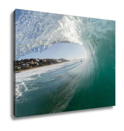 Gallery Wrapped Canvas, Ocean Wave Blue Hollow, Ashley Art Studio, Gallery Wrapped Canvas, usds-5859580-14, art, canvas, challenge, crashing, decor, decoration, energy, excitement, fitness, f