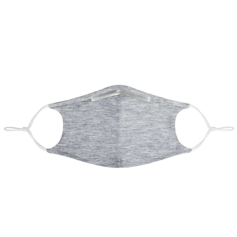 HEATHER GRAY -  MASK WITH (4) PM 2.5 CARBON FILTERS, Electric Styles, Accessories, heather-gray-mask-with-4-pm-2-5-carbon-filters, 'EcFreeDesign', Facemask, Mask, spo-default, spo-disabled