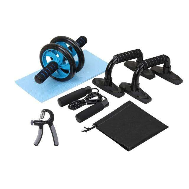 Home Gym Fitness Set Abdominal Roller Wheel Push up Bars Hand Gripper Wheel Roller Kit Workout Body Building Fitness Equipment, Automizely Dropshipping, , home-gym-fitness-set-abdominal-rolle