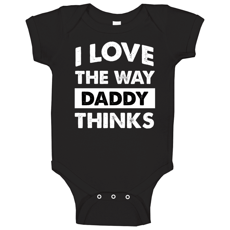 I Love The Way Daddy Thinks Baby One Piece, Tshirtgang, T-Shirt, i-love-the-way-daddy-thinks-baby-one-piece, baby, daddy, love, one, piece, spo-default, spo-disabled, thinks, various, way