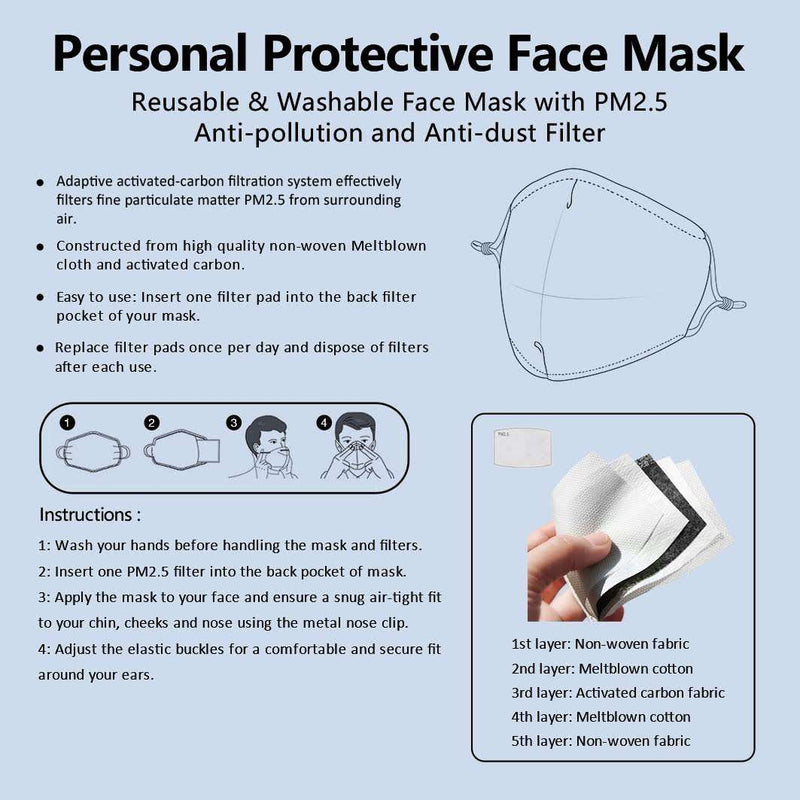 IRIS -  MASK WITH (4) PM 2.5 CARBON FILTERS, Electric Styles, Accessories, iris-mask-with-4-pm-2-5-carbon-filters, 'EcFreeDesign', Facemask, Mask, spo-default, spo-disabled