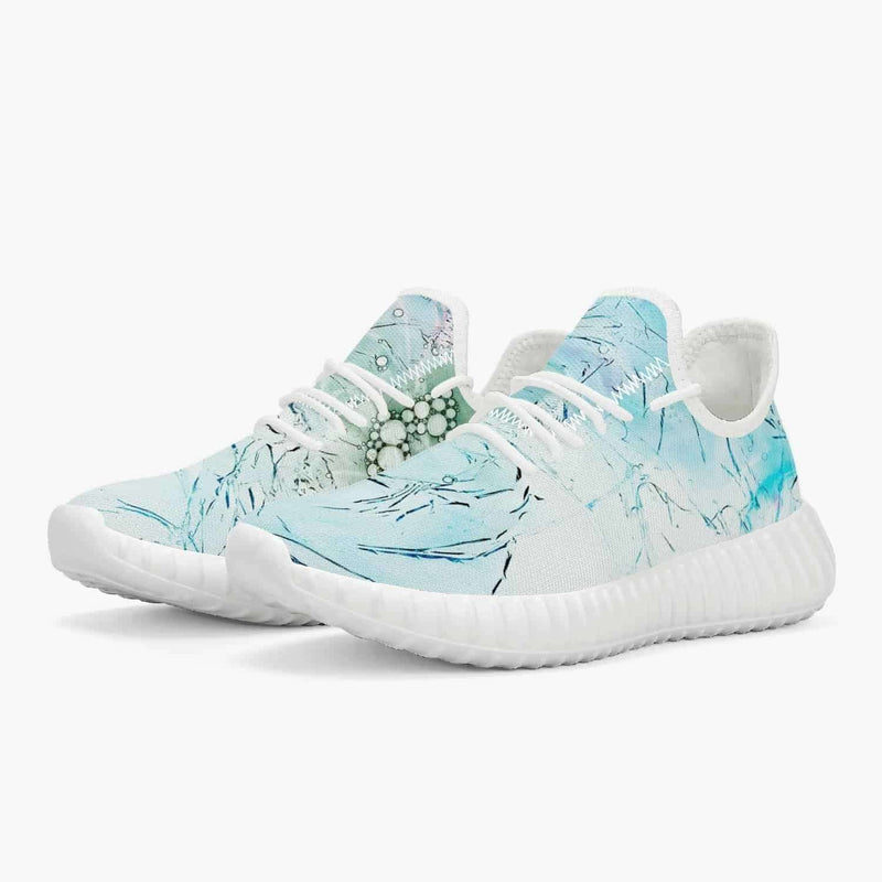 Mesh Knit Sneakers - White/Green/Blue, Snapfitnessdeals, Trendy Shoes, mesh-knit-sneakers-white-green-blue, fashion, mesh, mesh knit, mesh knit Shoes, mesh knit Sneakers, Sneakers, spo-defaul