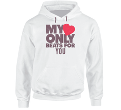My Heart Only Beats For You Hoodie, Tshirtgang, T-Shirt, my-heart-only-beats-for-you-hoodie-1, beats, for, heart, hoodie, my, only, spo-default, spo-disabled, various, you