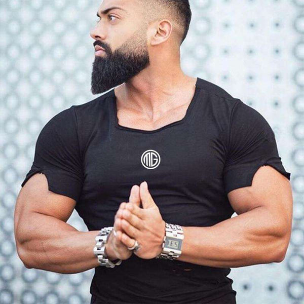 New 2020 Cotton Men's T Shirt Vintage Ripped Hole T-Shirt Men Fashion Casual Top Tee Men Hip Hop Activewears Fitness Tshirt Male, Snapfitnessdeals, Sports & Entertainment - Fitness & Body Bui