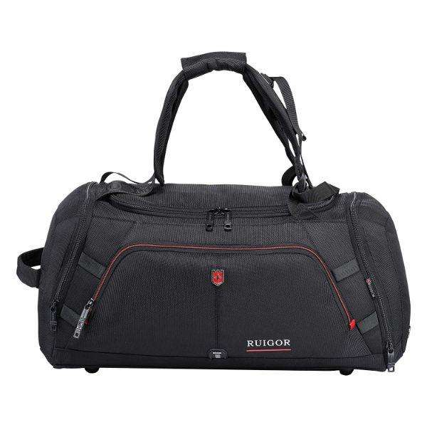 Ruigor Motion 12  34L Duffel Bag with Sweat Control Shoe Compartment  Water Resistant - Black, MerchMixer, Travel, ruigor-motion-12-34l-duffel-bag-with-sweat-control-shoe-compartment-water-re