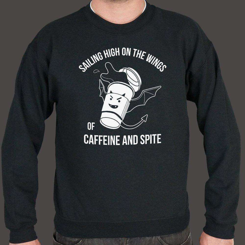 Sailing High On The Wings Of Caffeine And Spite Sweater (Mens), US Drop Ship, Sweatshirt, usds-6dtm-1788unisex, coffee, food, spo-default, spo-disabled, tank, tops
