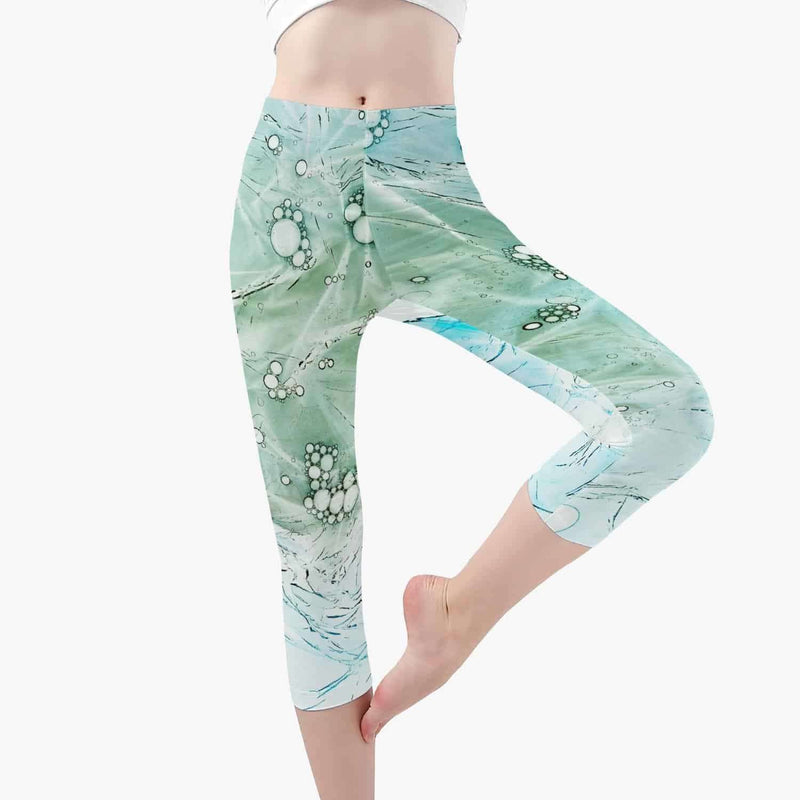 Short Type Yoga Pants-Green Pattern, Snapfitnessdeals, Pants, short-type-yoga-pants-green-pattern, clothing, fashion, Pants, Practice, spo-default, spo-disabled, Sport, Sports, Yoga, Yoga Acc
