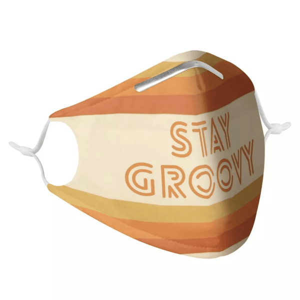 STAY GROOVY - MASK WITH (4) PM 2.5 CARBON FILTERS, Electric Styles, Accessories, stay-groovy-mask-with-4-pm-2-5-carbon-filters, 'EcFreeDesign', Facemask, Mask, spo-default, spo-disabled