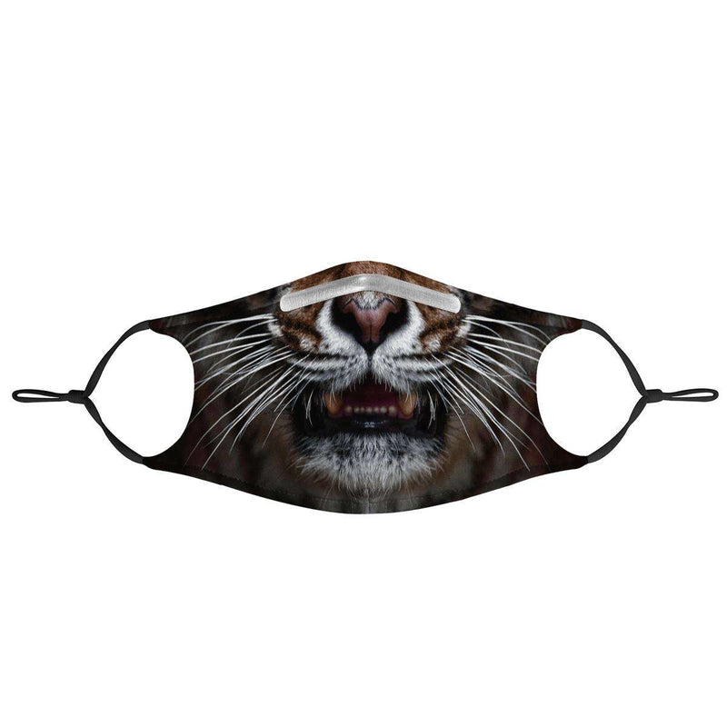 TIGER -  MASK WITH (4) PM 2.5 CARBON FILTERS, Electric Styles, Accessories, tiger-mask-with-4-pm-2-5-carbon-filters, 'EcFreeDesign', Facemask, Mask, spo-default, spo-disabled