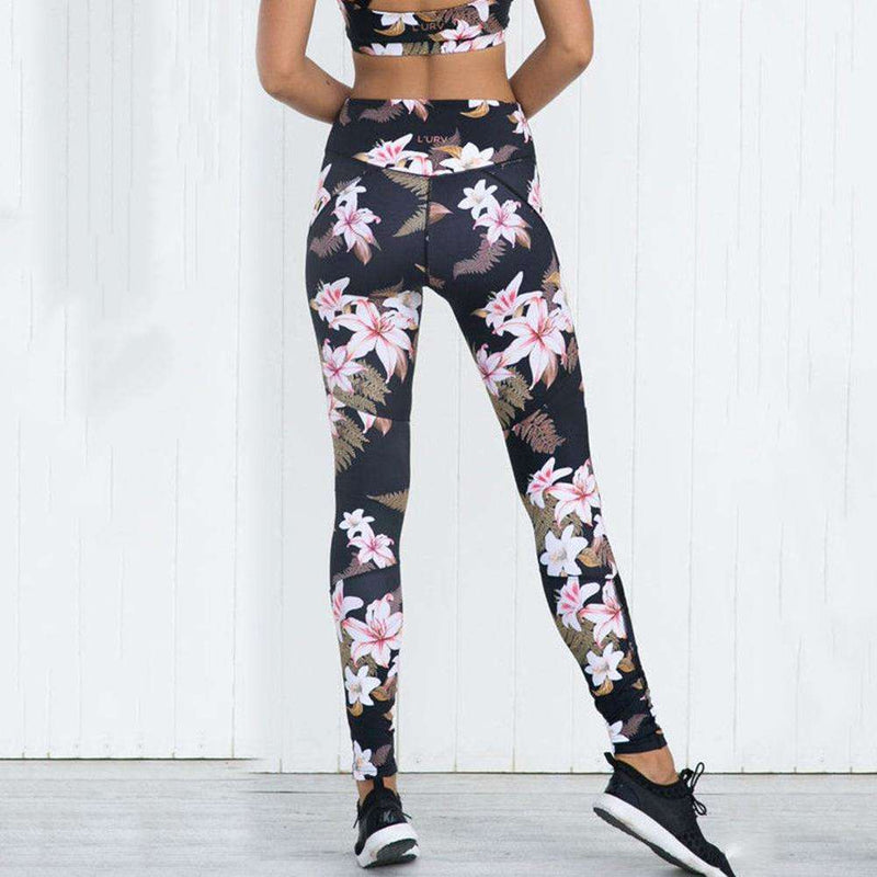 Women Flower Print Sport Leggings Sexy Gauze Patchwork Yoga Skinny Workout Pants, Snapfitnessdeals, Leggings, women-flower-print-sport-leggings-sexy-gauze-patchwork-yoga-skinny-workout-pants,