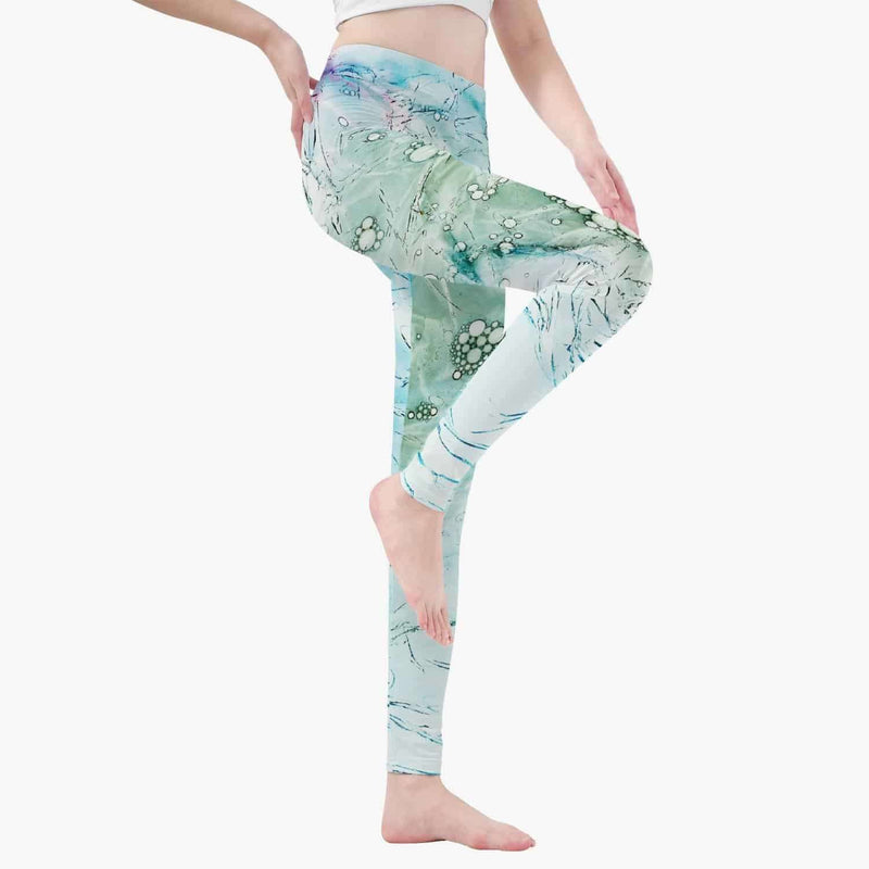 Yoga Pants-Green Pattern, Snapfitnessdeals, Pants, yoga-pants-green-pattern, clothing, fashion, Pants, Practice, spo-default, spo-disabled, Sport, Sports, Yoga, Yoga Accessory, Yoga Class, Yo