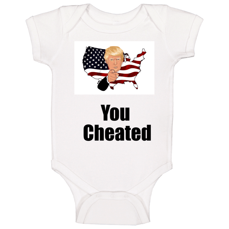 You Cheated Baby One Piece, Tshirtgang, T-Shirt, you-cheated-baby-one-piece, baby, cheated, one, piece, political, spo-default, spo-disabled, you