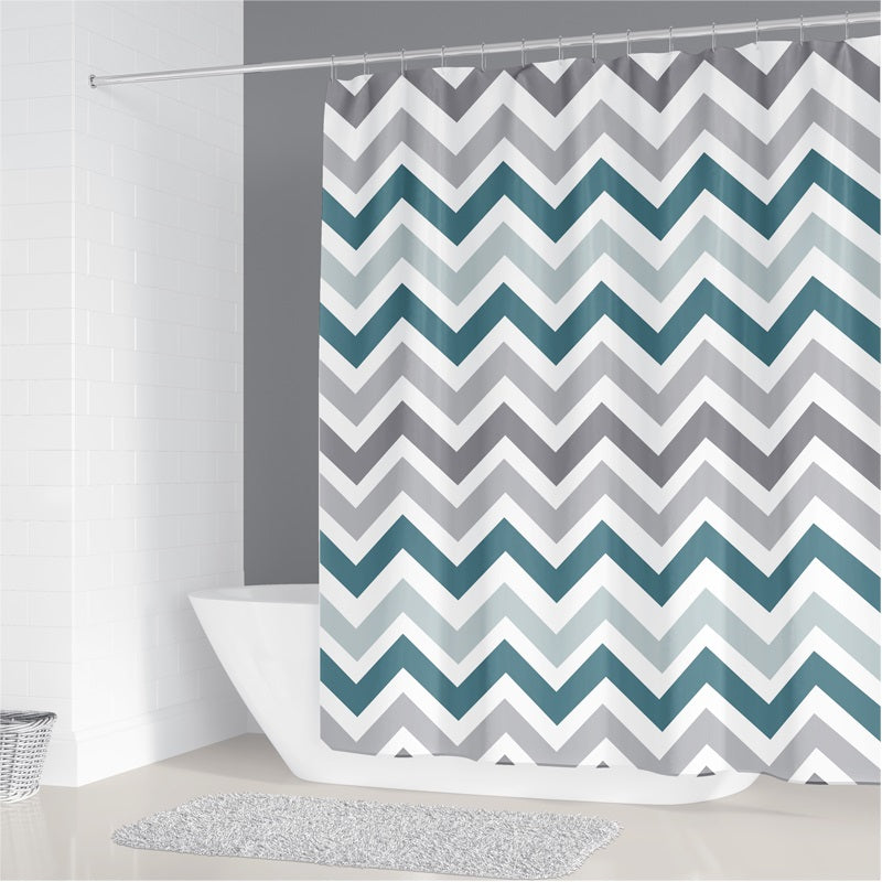 Neutral Stripes Shower Curtain