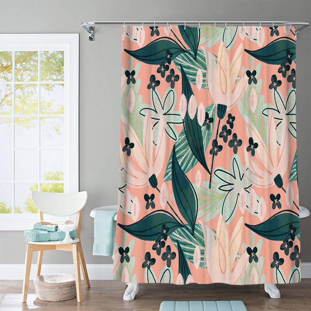 Flushed Shower Curtain