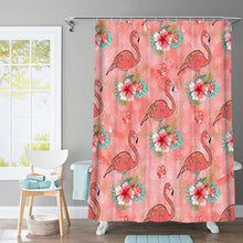 Load image into Gallery viewer, Flamingo Paradise Shower Curtain