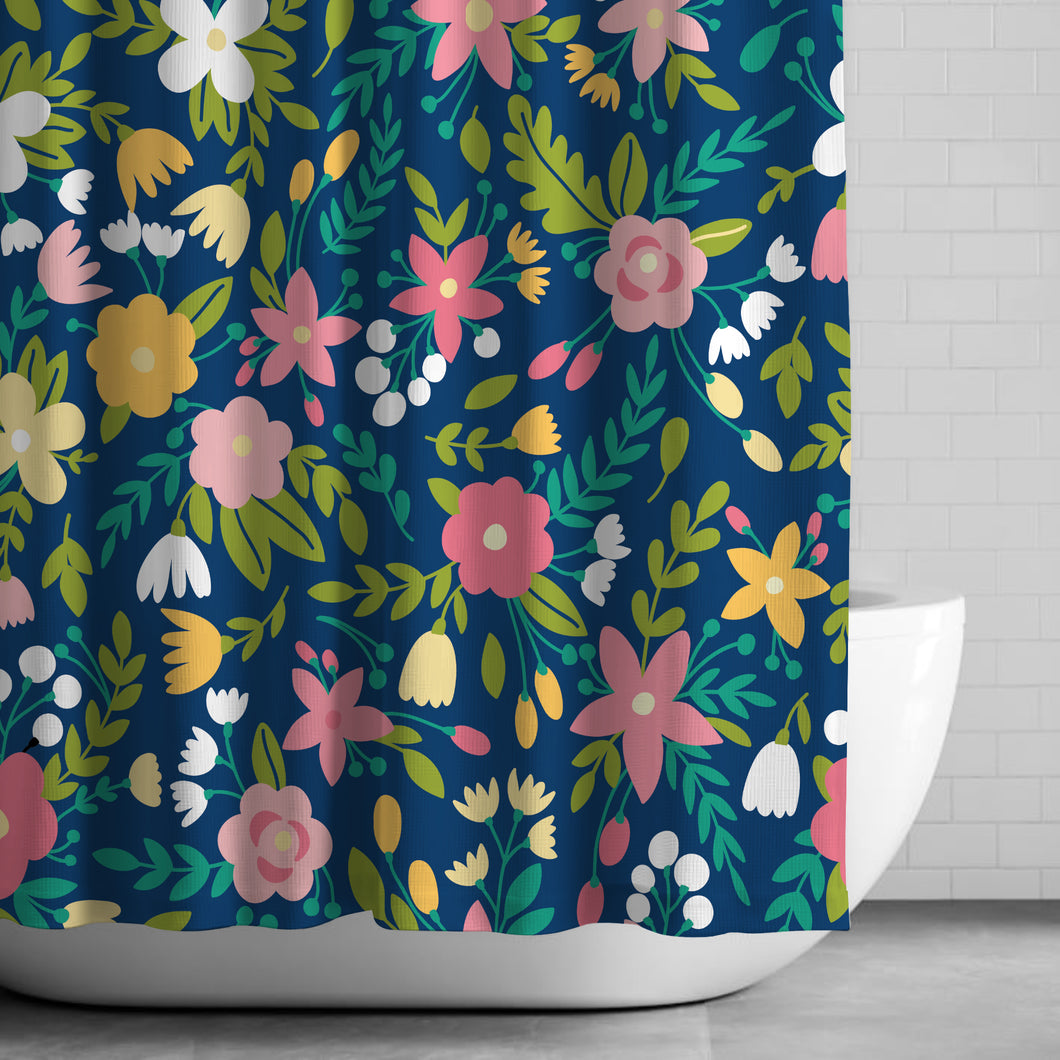 Evening Bloom Shower Curtain