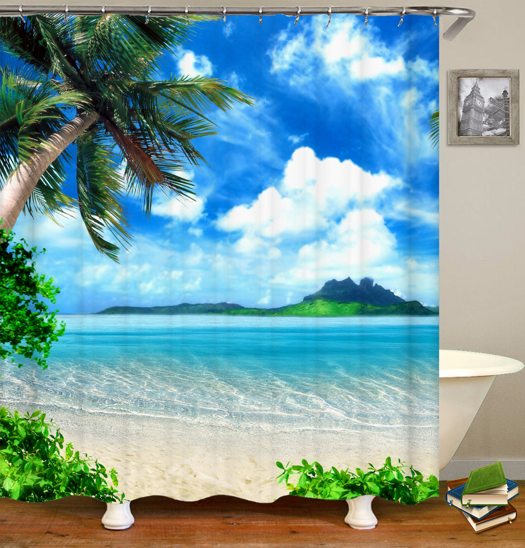 Palm Tree Beaches Shower Curtain