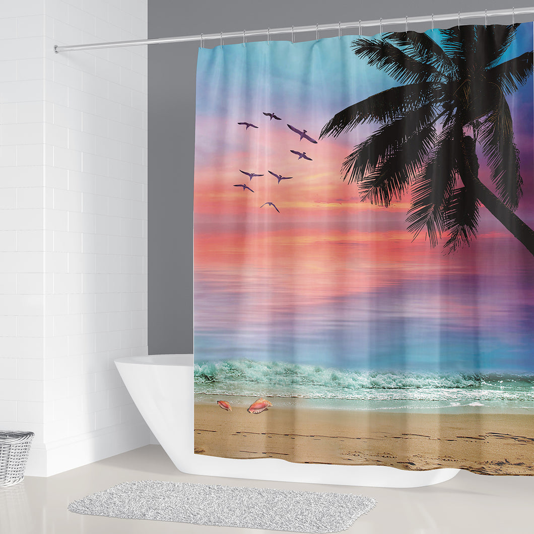 Palm Tree Breeze Shower Curtain
