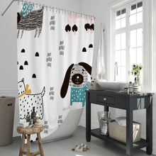 Load image into Gallery viewer, Raining Dogs Shower Curtain