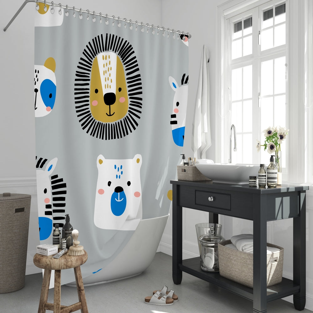Jungle Animals Shower Curtain