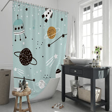 Load image into Gallery viewer, Wonders in Space Shower Curtain