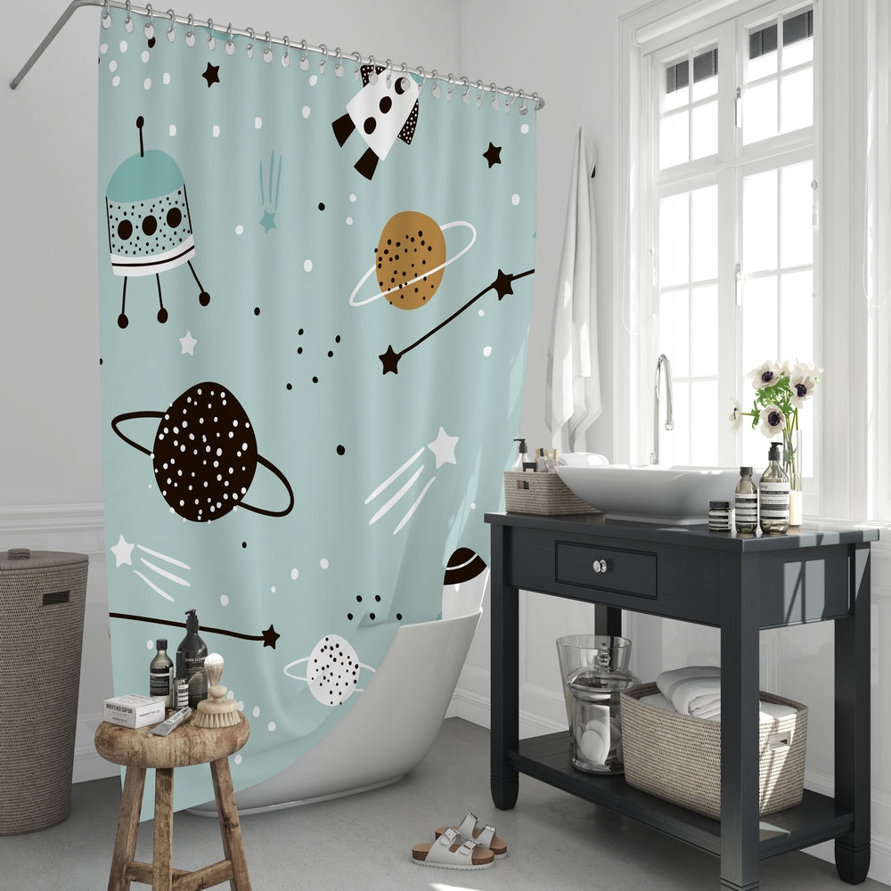 Wonders in Space Shower Curtain