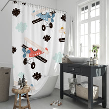 Load image into Gallery viewer, Airplane Shower Curtain