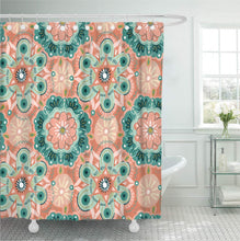 Load image into Gallery viewer, Hollyhock Shower Curtain