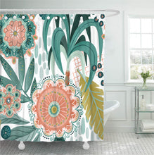 Load image into Gallery viewer, Tropical Fern Shower Curtain