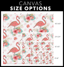 Load image into Gallery viewer, Flamingo Pattern Canvas