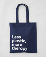 'Less plastic, more therapy' tote bag