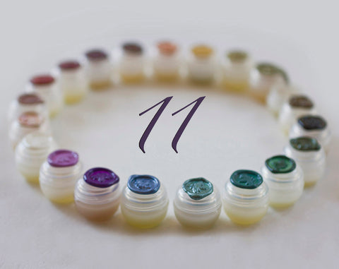 Solid Perfume Sample Set of Eleven