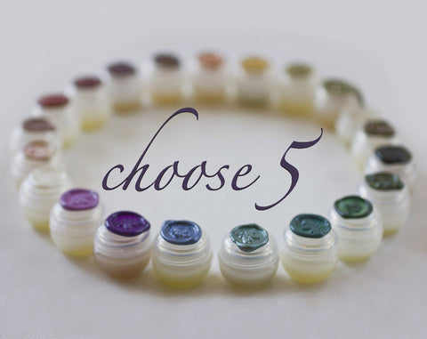 Solid Natural Perfume Discovery Set of Five