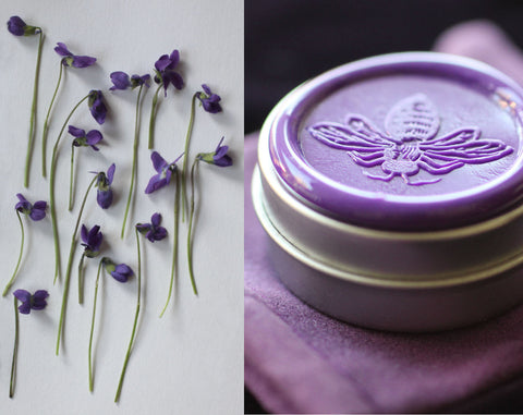 Gracing the Dawn Solid Natural Perfume featuring notes of violet, rose, night queen and jasmine