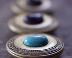 Solid Natural Perfume Mini Compact with Labradorite