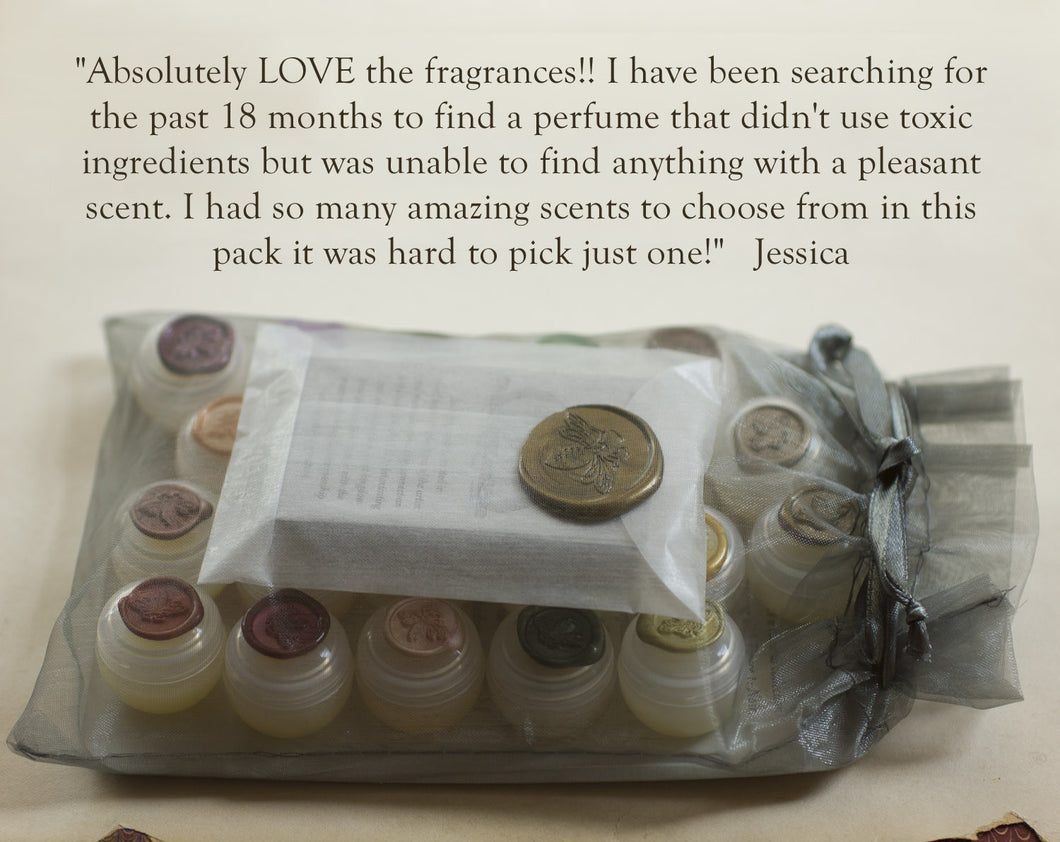 Solid Perfume Sample Set of Fifteen