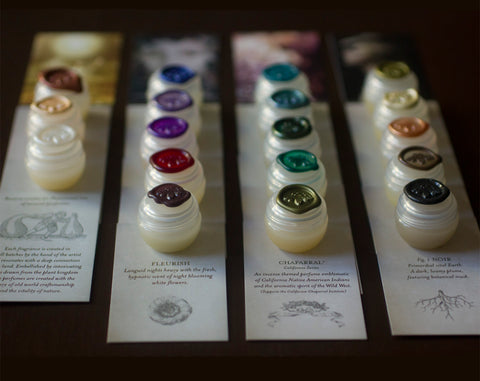 Solid Natural Perfume Sample Set of Fourteen