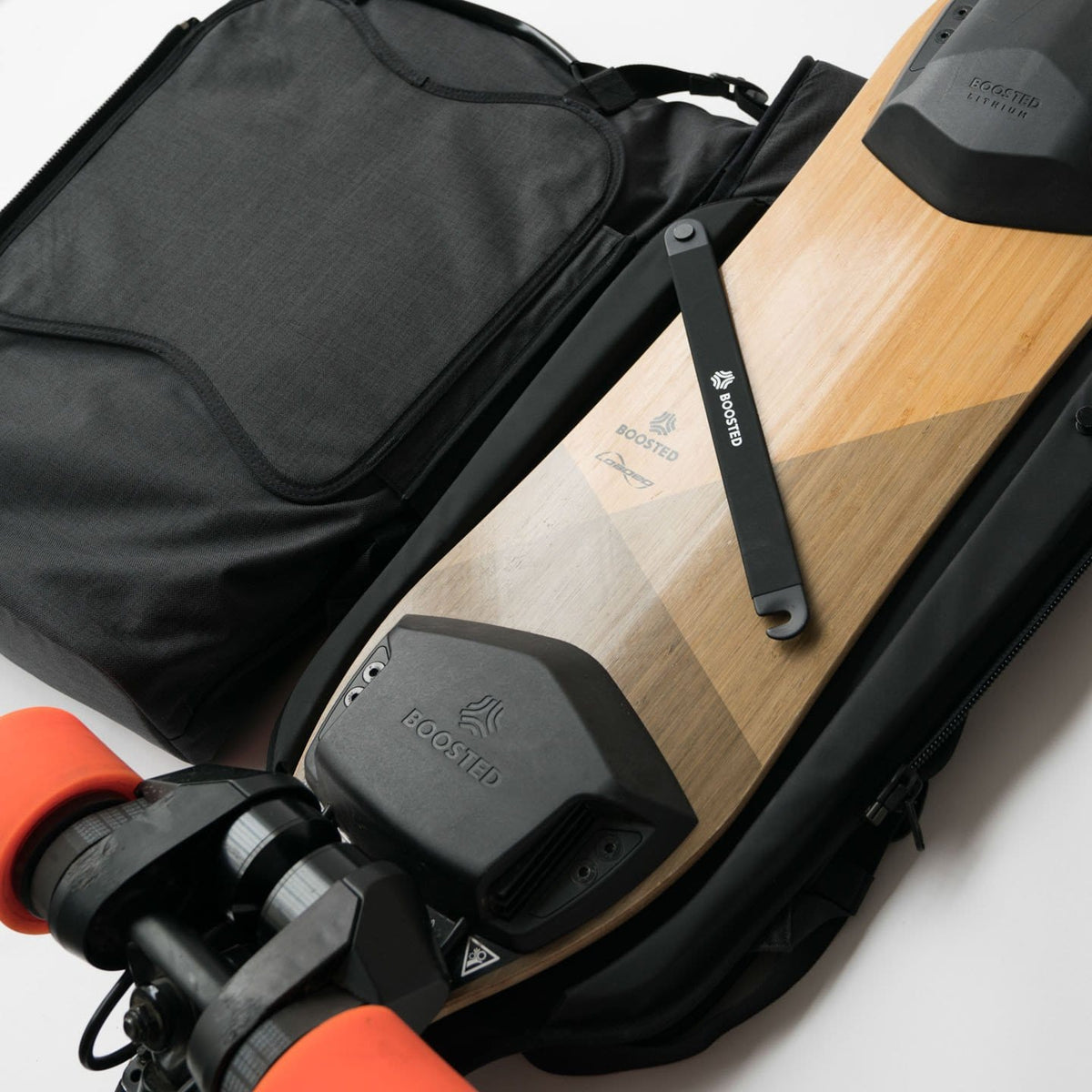 Boosted Backpack Longboard Carry Technology