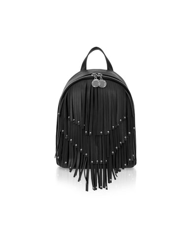 Vichy Backpack Stile fringe Black