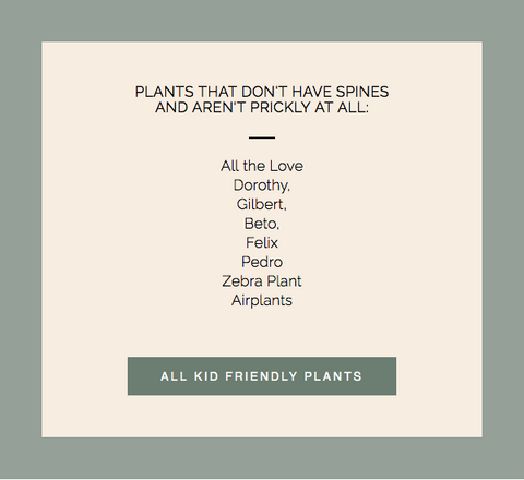 Plants Aren't Prickly at all for Kids