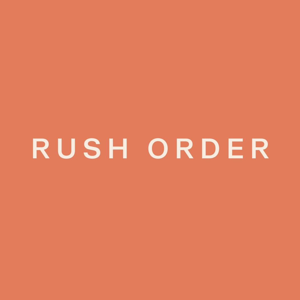 Rush Order - 24 Hours Processing Time; .