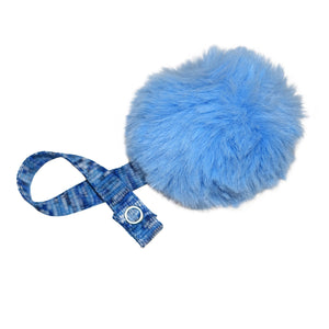 Blue Big Fur Pom Pom