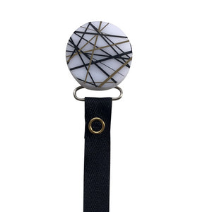 Classy Paci CHIC Gold Mix Round Pacifier clip