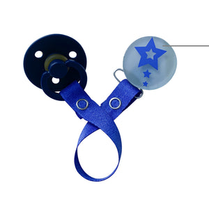 Classy Paci VIVID Shooting stars design in several color options clip with matching Bibs pacifier GIFT SET