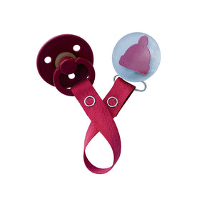Classy Paci VIVID hat several color options clip with Bibs pacifier GIFT SET