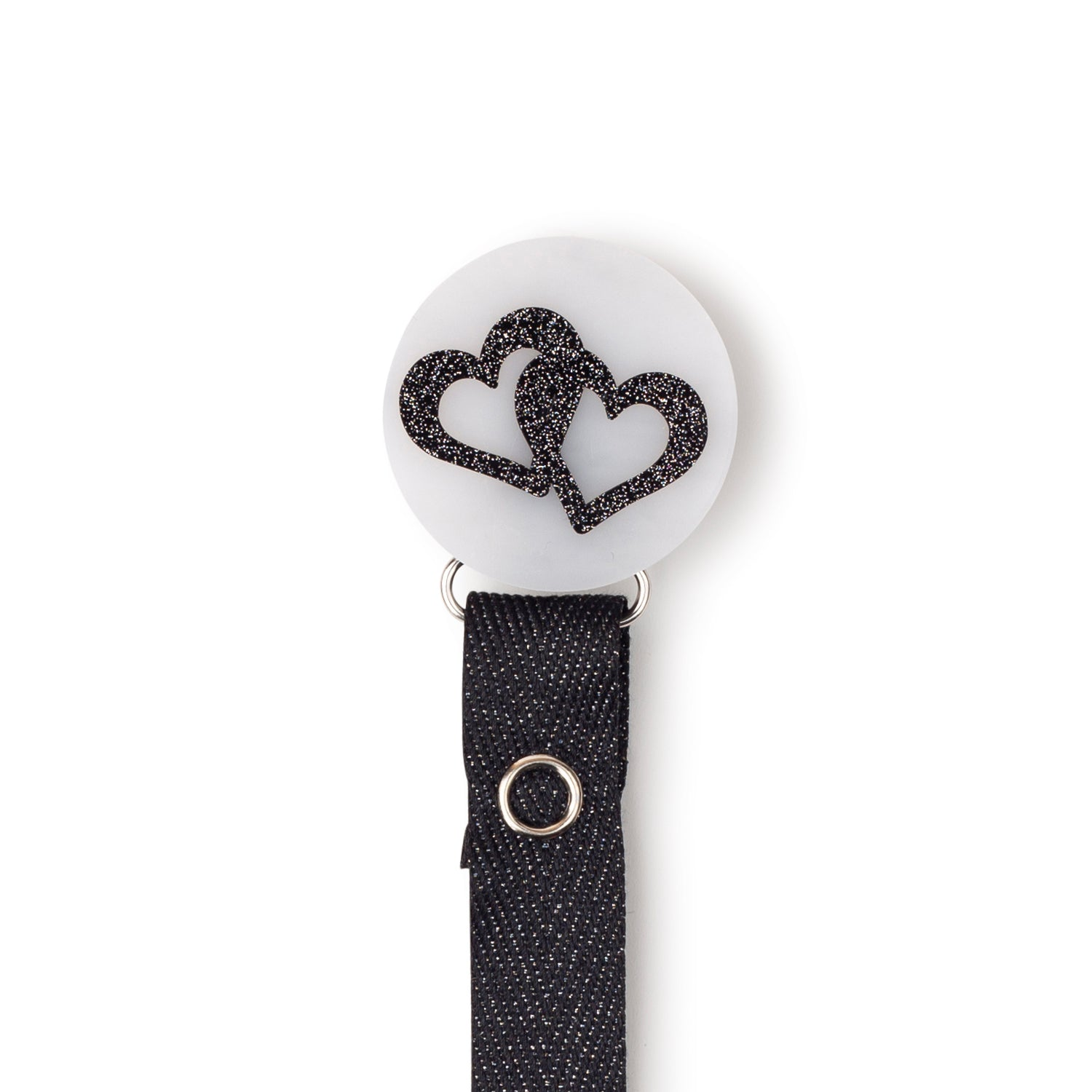 Classy Paci Marble black white onyx heart  circle clip with BIBS pacifier GIFT SET