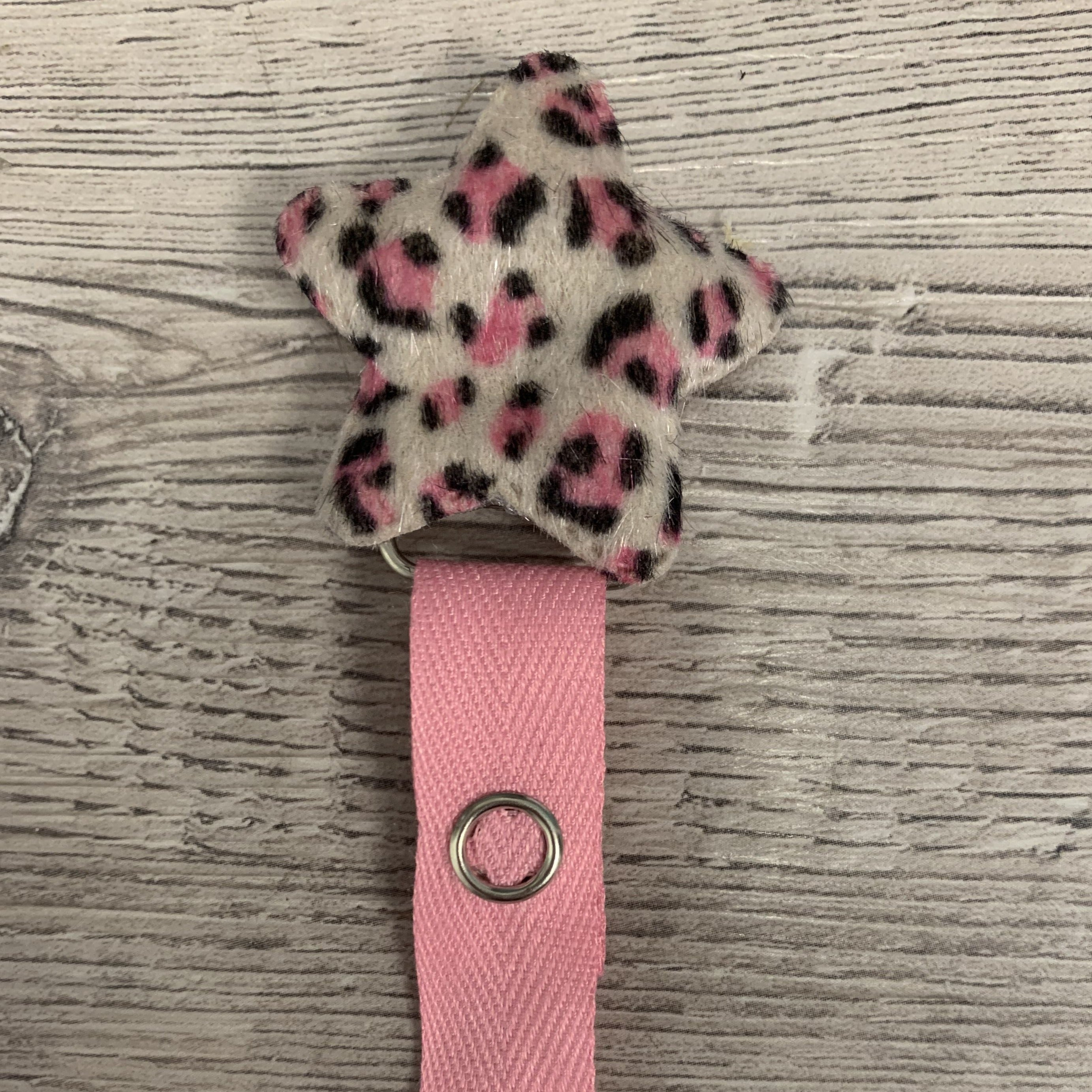 Leopard star hot pink/tan/brown/maroon/red girls and boys
